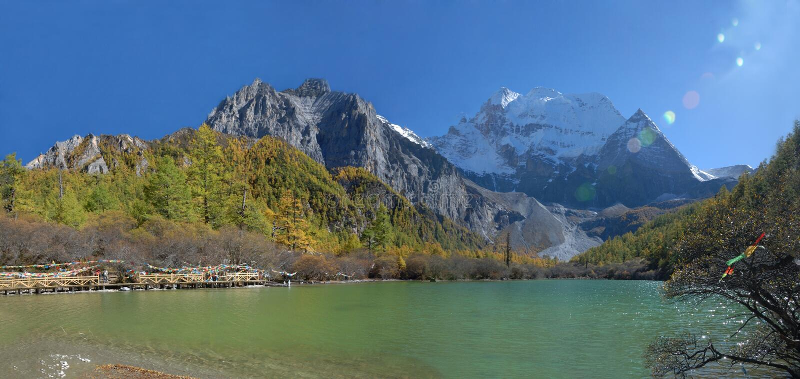 China/Sichuan: parel meer in Inagi Aden royalty-vrije stock foto's