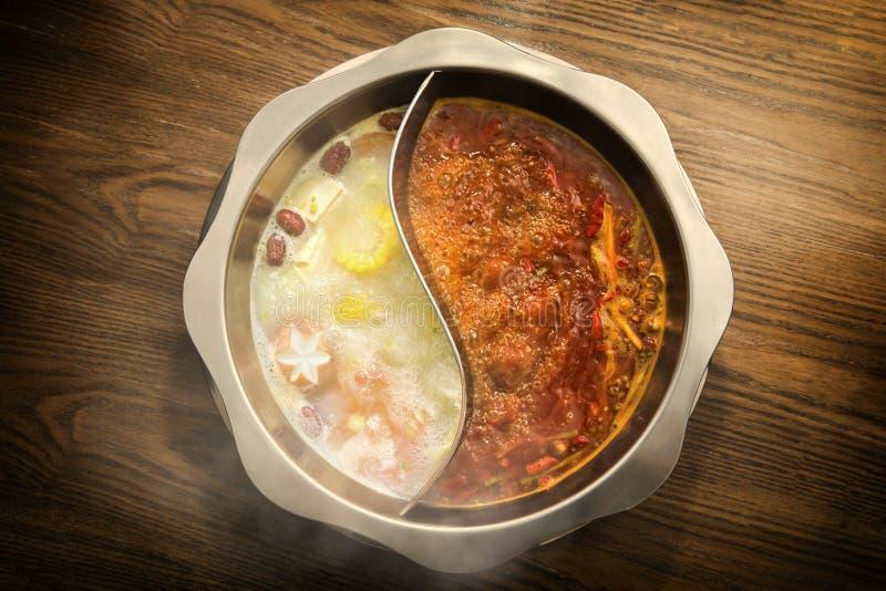 China sicuan chafing dish. Chafing dish China Chinese sicuan hot stock photos