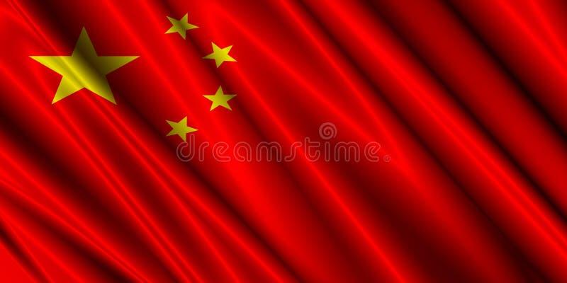 China silk flag royalty free illustration