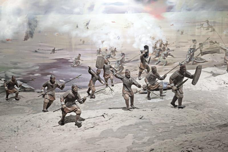 China-soldados de Yaan na guerra fotos de stock royalty free
