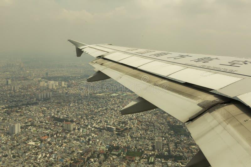 China Southern Airlines landning i Ho Chi Minh royaltyfria bilder