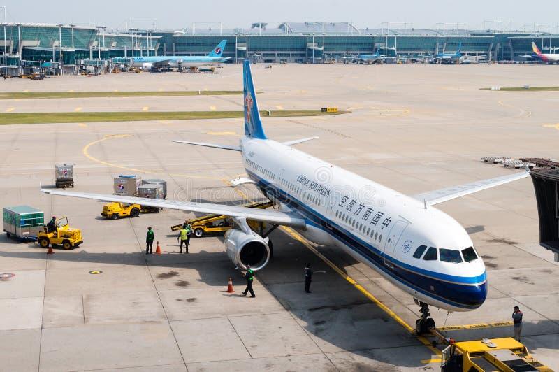 China Southern Airlines sur le macadam photos libres de droits