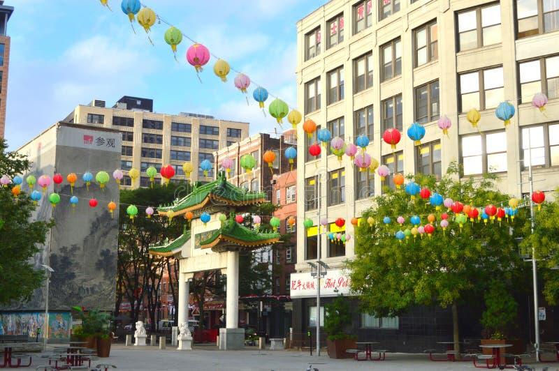 China-Stadt Boston stockfoto