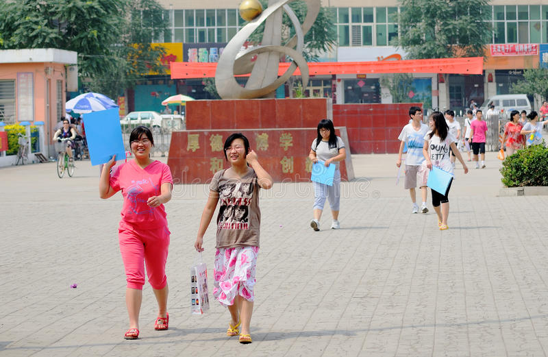 China: students take the exam royalty free stock images