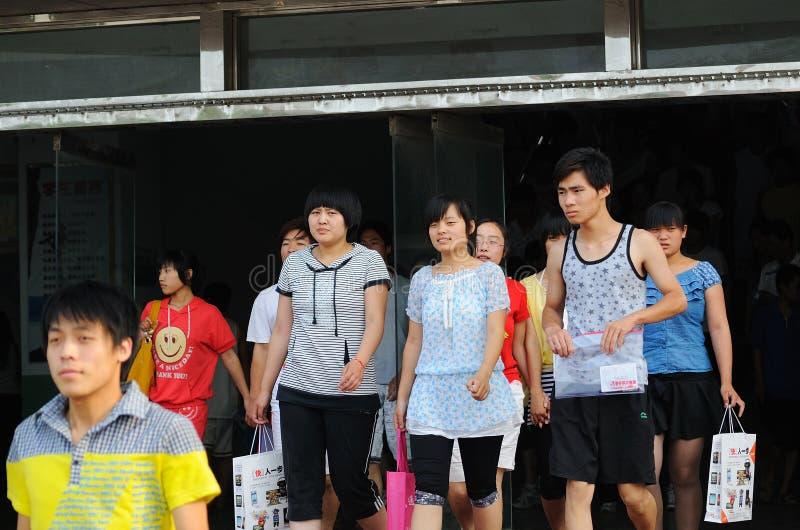China: students take the exam royalty free stock photography