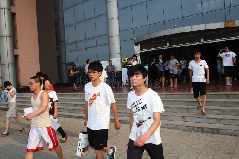 China: students take the exam stock photos