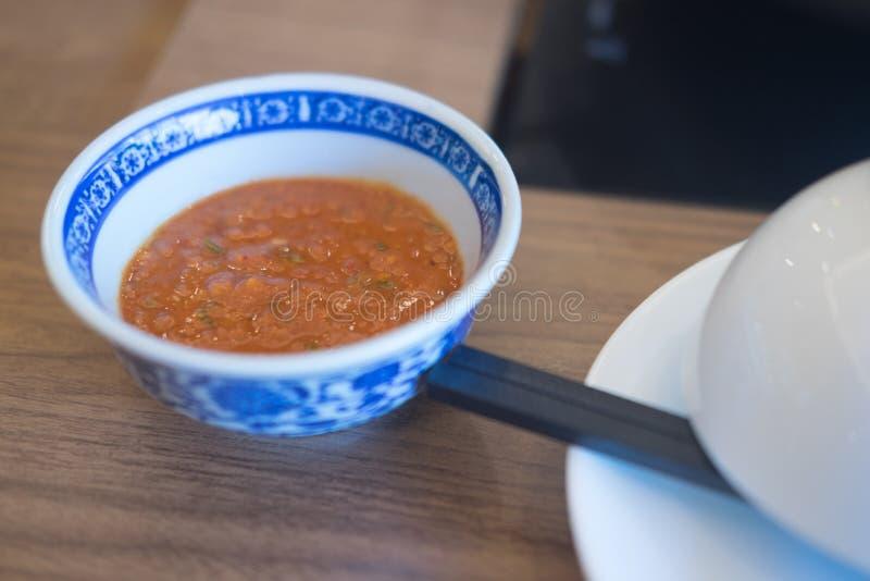 China suki-yaki sauce in bowl royalty free stock photos