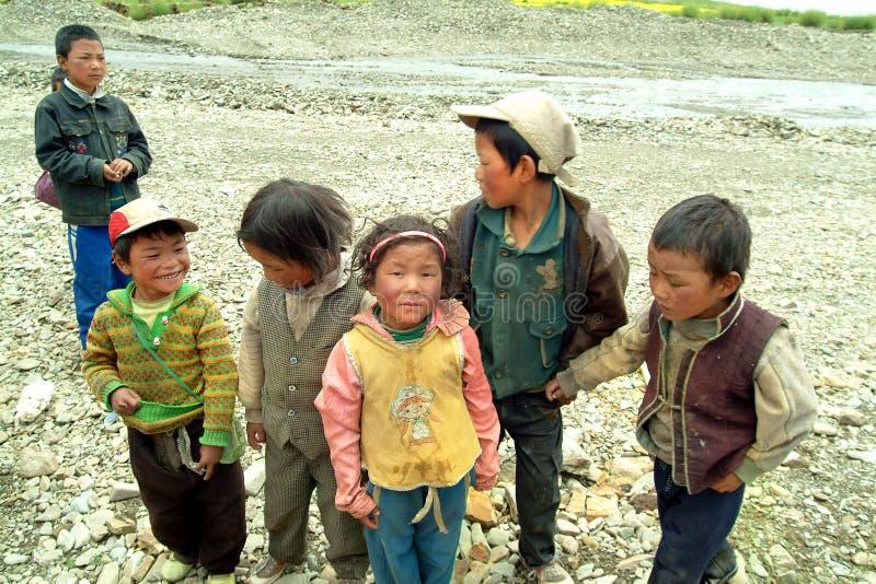 China, Tíbet, gente imagenes de archivo