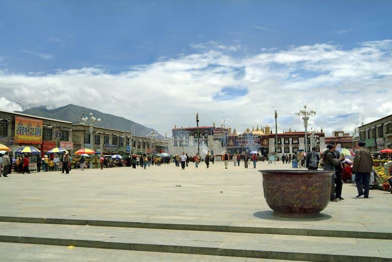 China, Tíbet, Lasa, palacio de Yokhang imagen de archivo