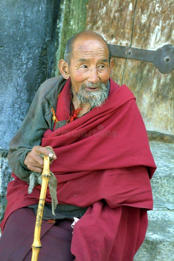 China, Tíbet, monje fotografía de archivo