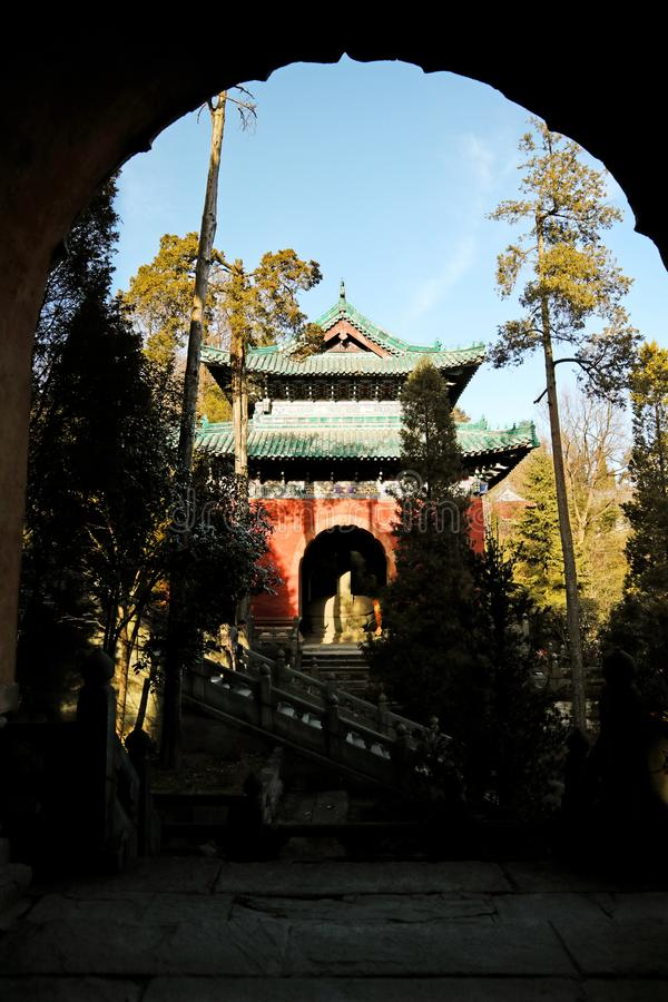 China Taoist Architecture Palace,. Is located on Wudang Mountain in Hubei royalty free stock photography