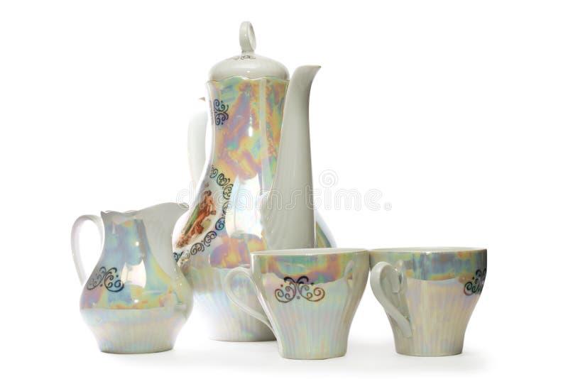 China tea set, isolated royalty free stock photos