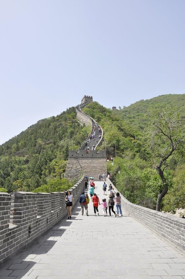 China, 6th may: Chinese Great Wall landmark at Juyongguan Pass. Panoramic view of the Great Wall at Juyongguan Pass a UNESCO World Heritage from China 6th may royalty free stock images
