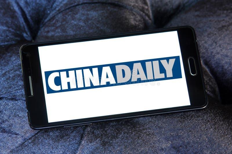 China Daily tidningslogo arkivfoton