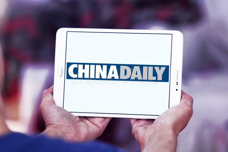 China Daily tidningslogo royaltyfri bild