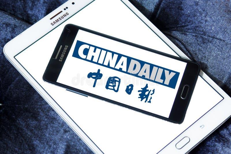 China Daily tidningslogo royaltyfri foto