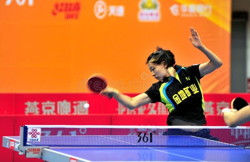 China-Tischtennis-Super League stockfotos