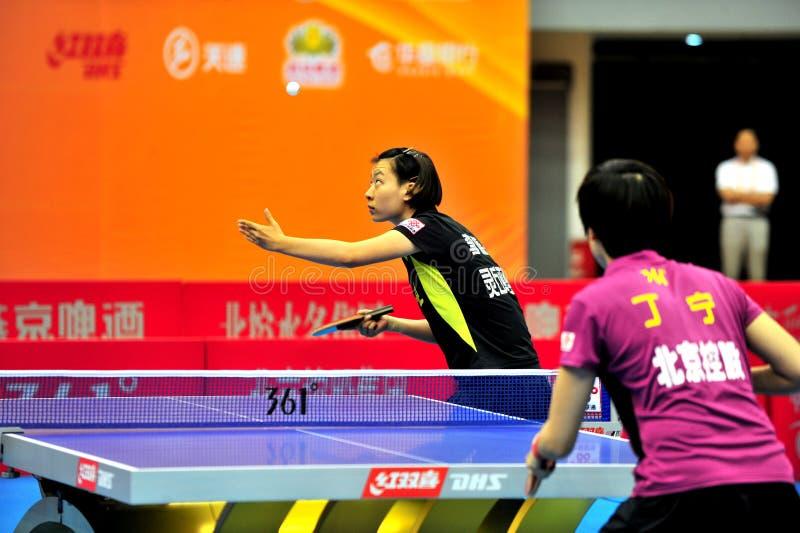 China-Tischtennis-Super League lizenzfreie stockbilder
