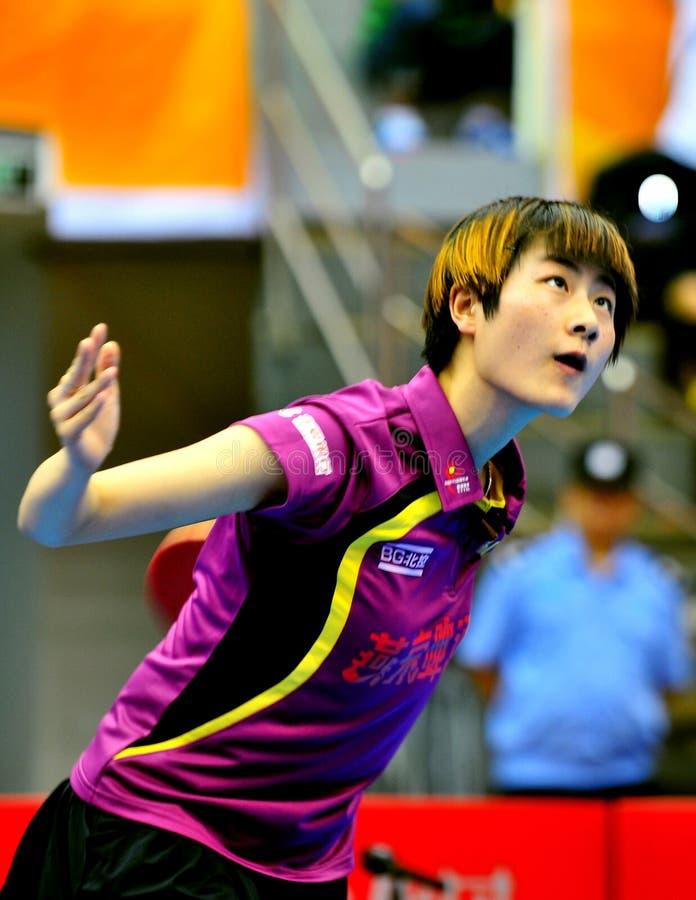 China-Tischtennis-Super League lizenzfreie stockfotografie
