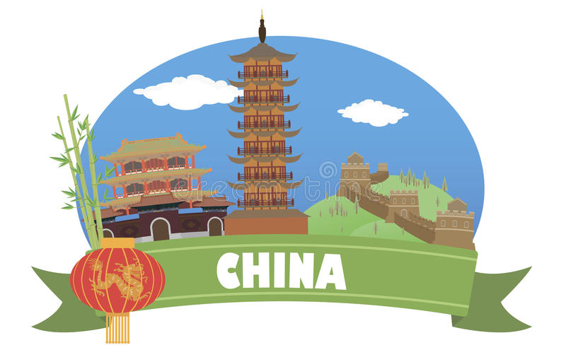 China. Tourism and travel royalty free illustration