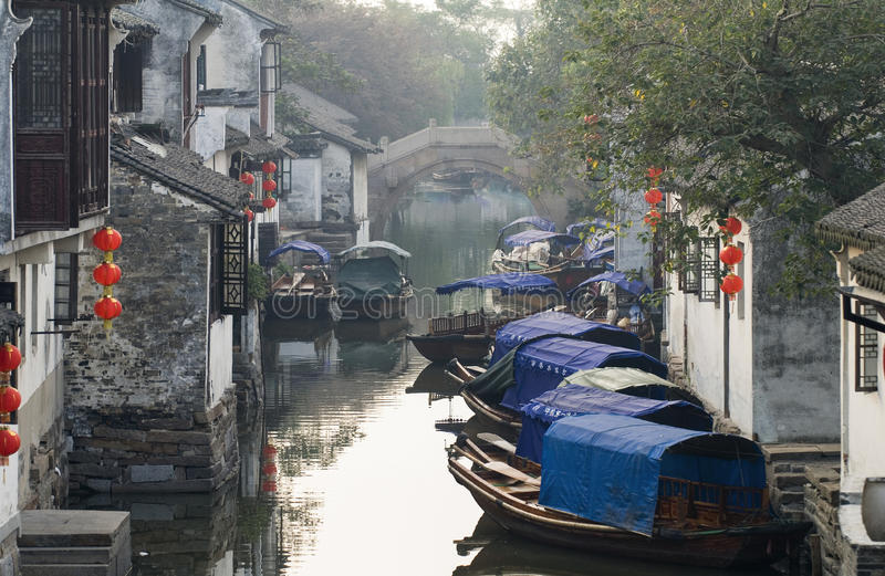 China tourism: Zhouzhuang ancient Water town. Zhouzhuang is an ancient Water town near shanghai, which is famous for traditional chinese architecture stock photos