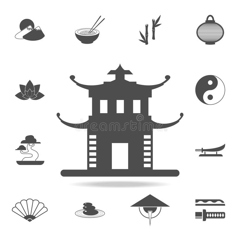 China Tower Icon Set Of Chinese Culture Icons Web Icons Premium