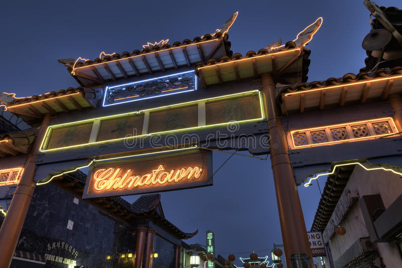 Download China town gate editorial photo. Image of building, angeles - 26230551