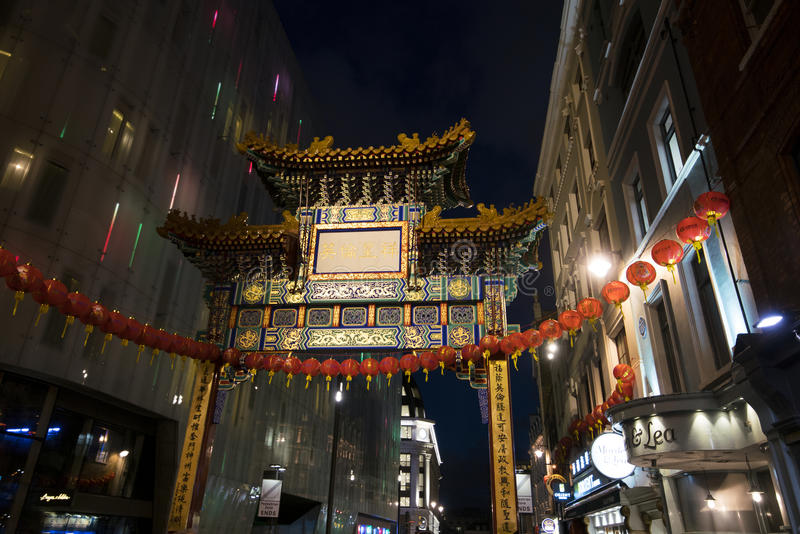 China Town London stock images