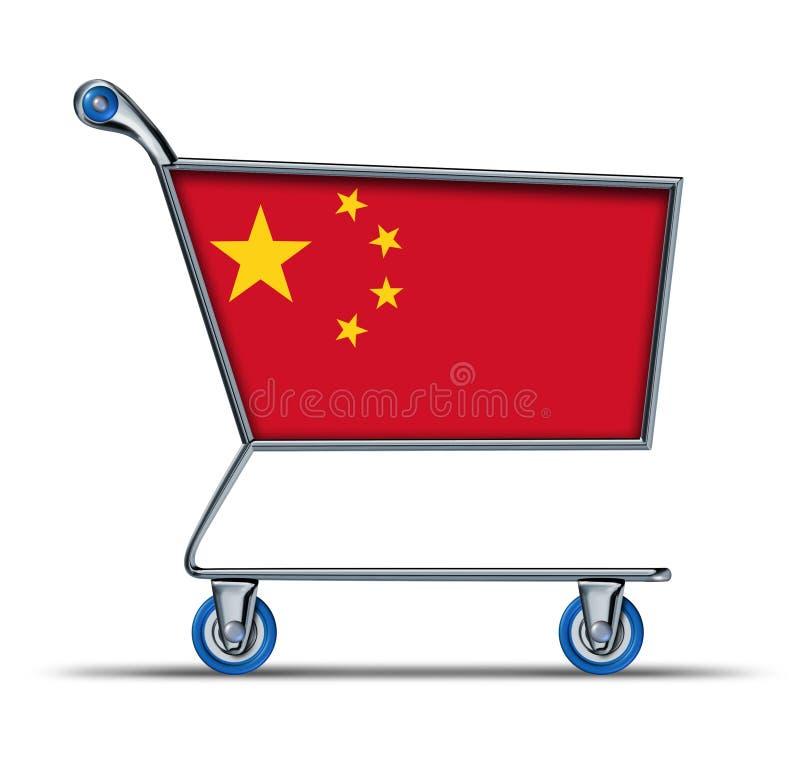 China trade market surplus deficit shopping cart royalty free illustration