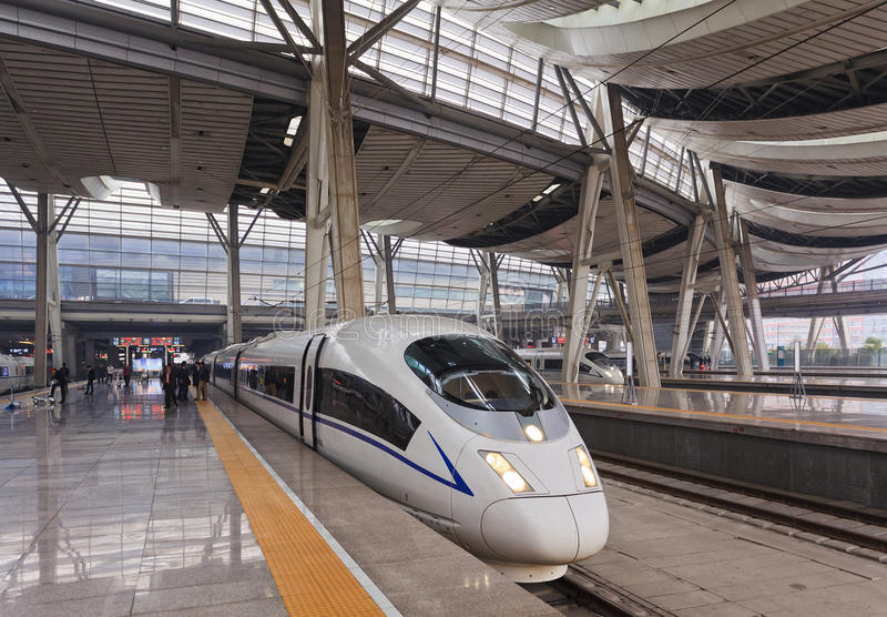 China Train Platform royalty free stock image