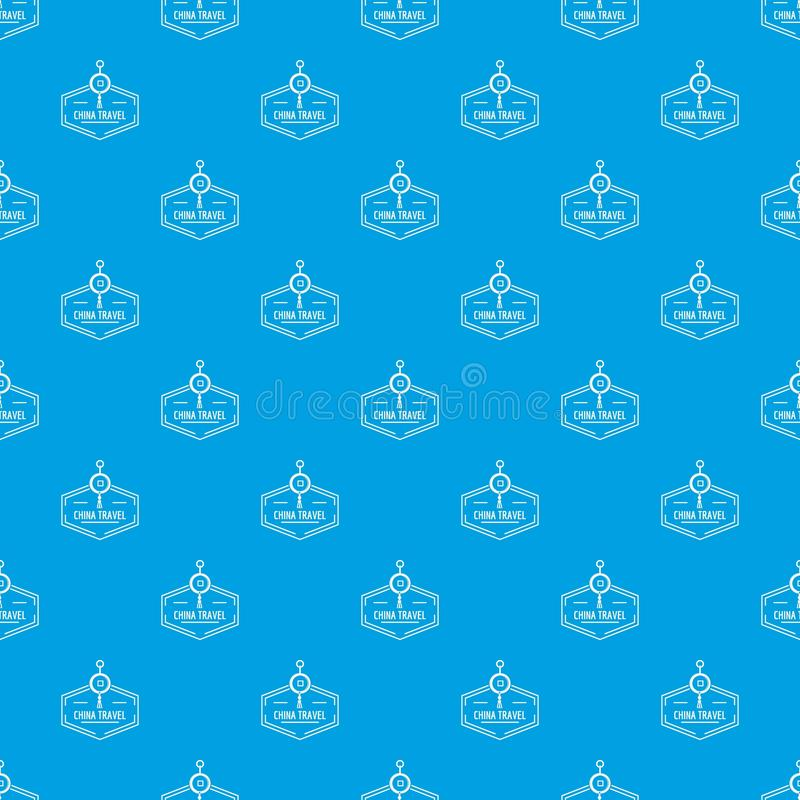 China travel pattern vector seamless blue vector illustration