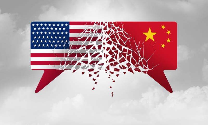China United States Crisis vector illustration