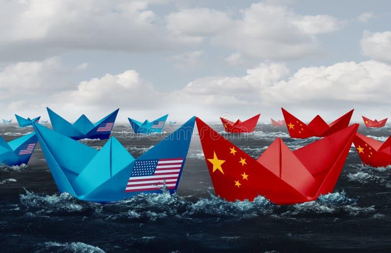 China United States Trade Tariffs royalty free illustration