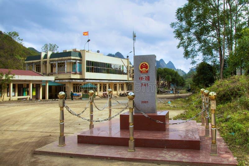 China-Vietnam border. Jingxi, Guangxi, China-Jan.18, 2012: China-Vietnam border port between Jingxi county (Guangxi Province, China) and Tra Linh county (Bao stock photo