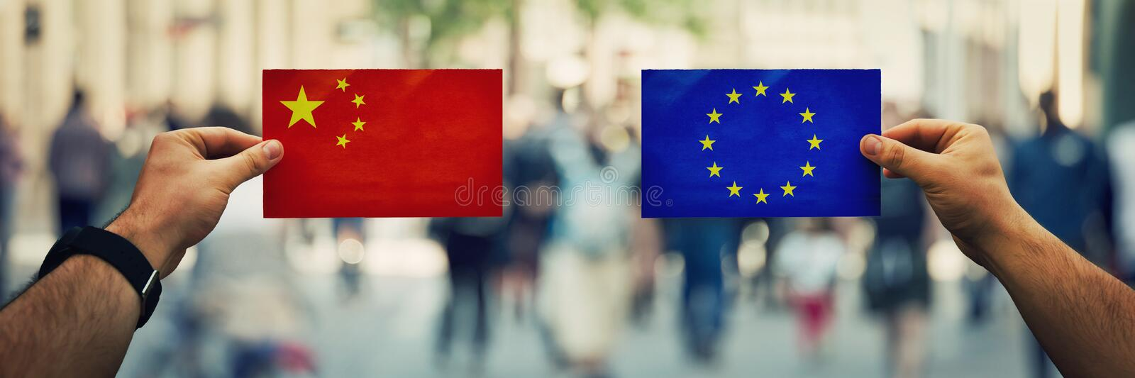 China vs eu royalty free stock photo
