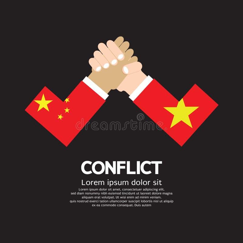 China VS Vietnam Arm-Wrestle. Illustration royalty free illustration