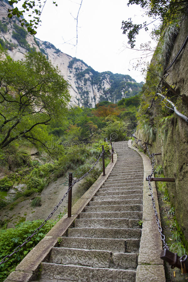 China:the way to top of mountain hua stock image