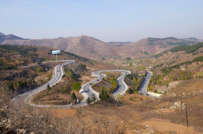 China weifang Qing zhou horn ridge. A tortuous road of Qingzhou City, Shandong Province, Weifang Chinese royalty free stock images