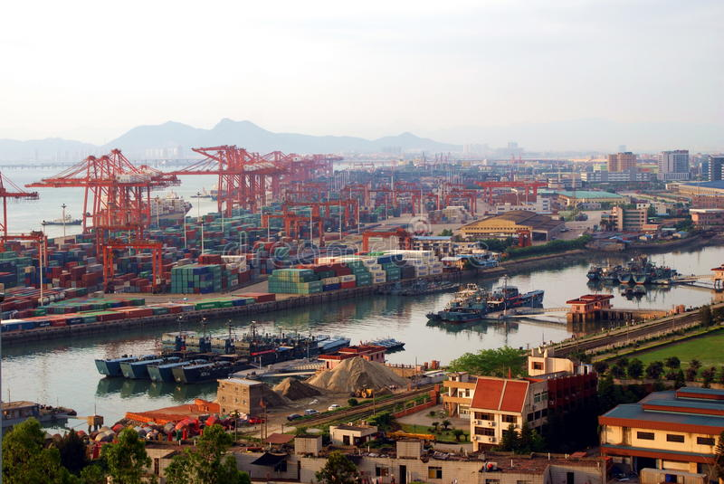 Download China Xiamen Sea Port Overview Editorial Photo - Image: 17286216