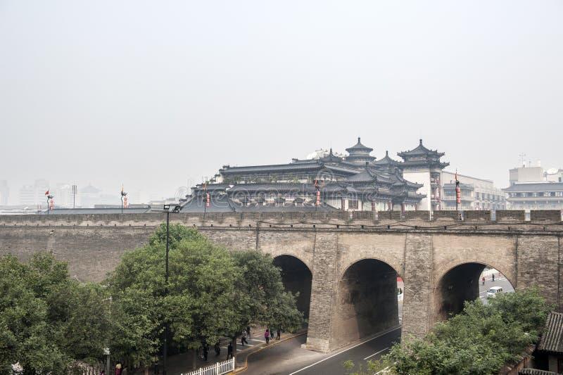 China: Xian city wall royalty free stock image