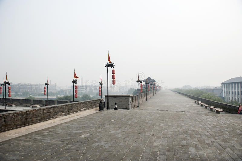 China: Xian city wall stock photos