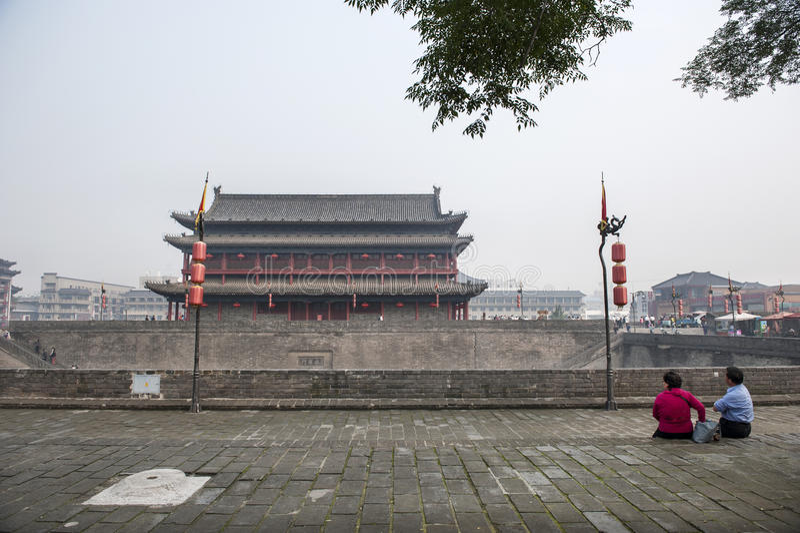 China: Xian city wall royalty free stock photography