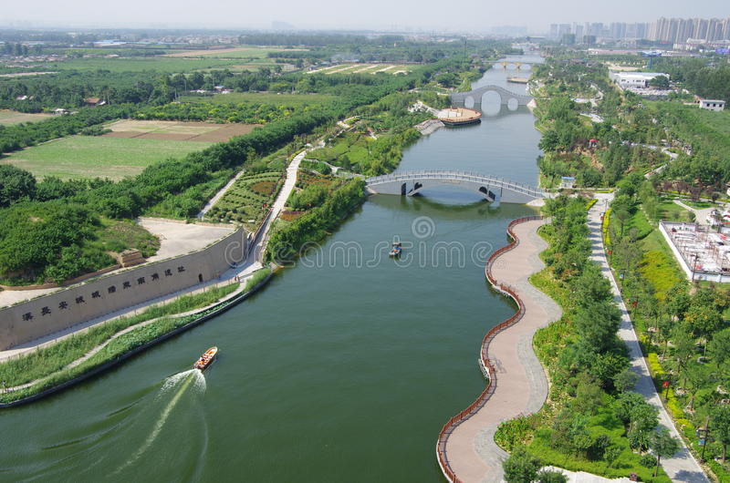 China xian lake park in Seoul. China's shaanxi province Seoul lake park is built on site in Seoul, along the southeast corner of wall will be automatically royalty free stock images