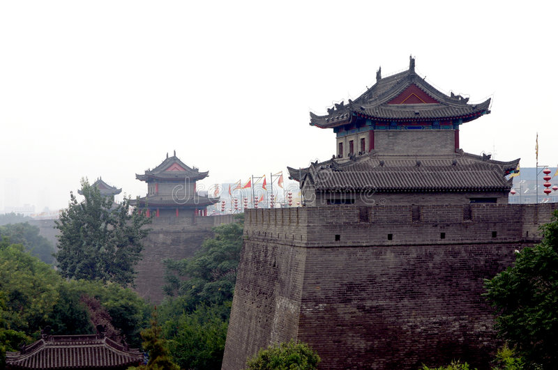 Download China Xian (Xi'an) City Wall Stock Image - Image of fortification, landscape: 2652475