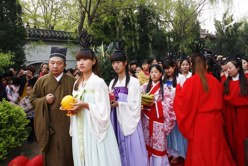 China Xingtai: Ritualzeremonie lizenzfreie stockfotos