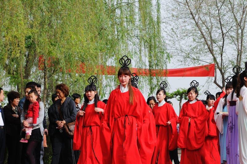 China Xingtai: Ritualzeremonie stockfotos