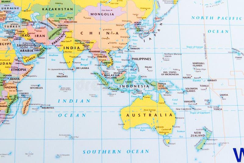 China y Australia imagen de archivo