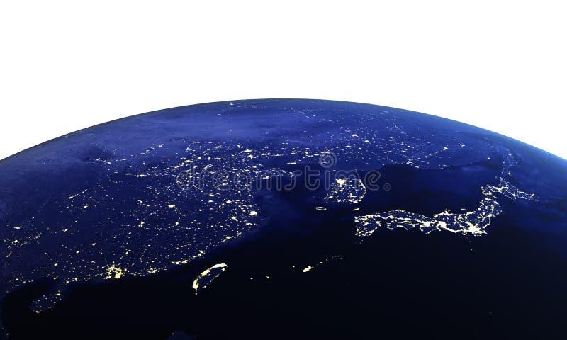 China y Japón en blanco ilustración del vector