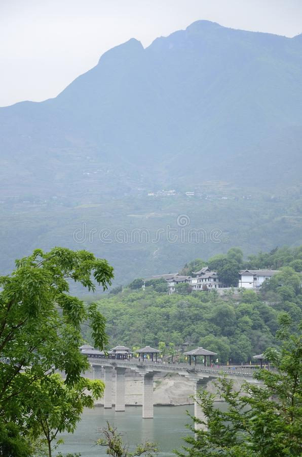 China Yangtze River Three Gorges scenic essence. The scenery along the Yangtze River Three Gorges scenic spots in Asia China scenery Baidi town in Fengjie County royalty free stock photos