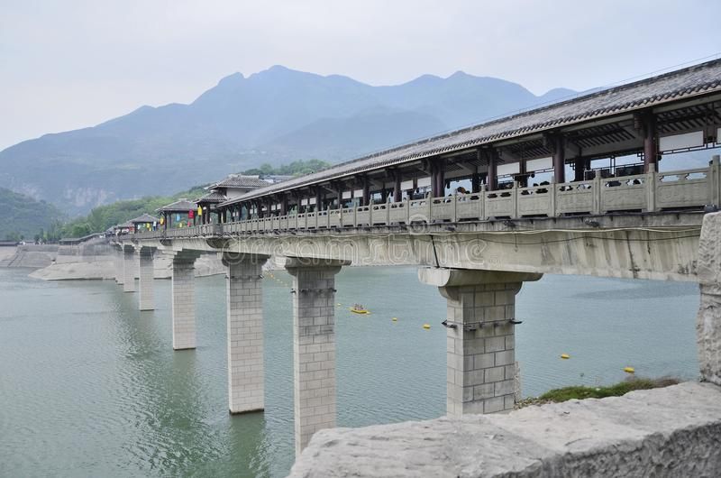 China Yangtze River Three Gorges scenic essence. The scenery along the Yangtze River Three Gorges scenic spots in Asia China scenery Baidi town in Fengjie County stock photography
